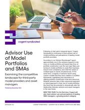 Advisor Use of Model Portfolios and SMAs_Fact Sheet
