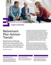 Retirement Plan Advisor Trends_Fact Sheet